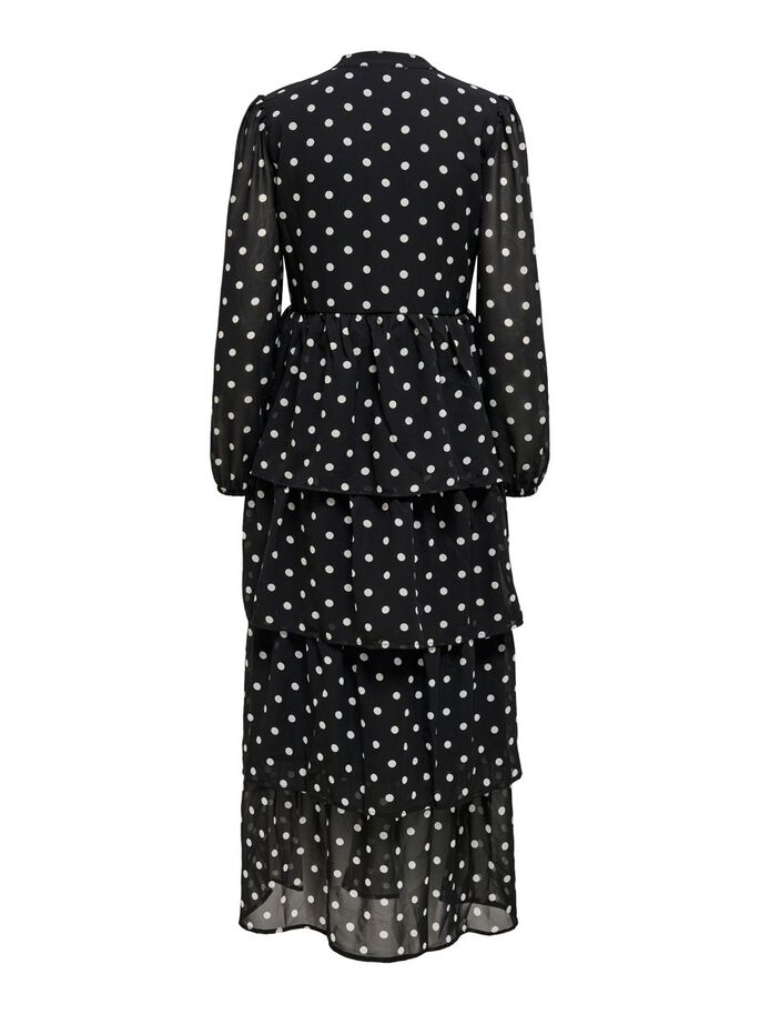 PRINT KLEID, Black, large