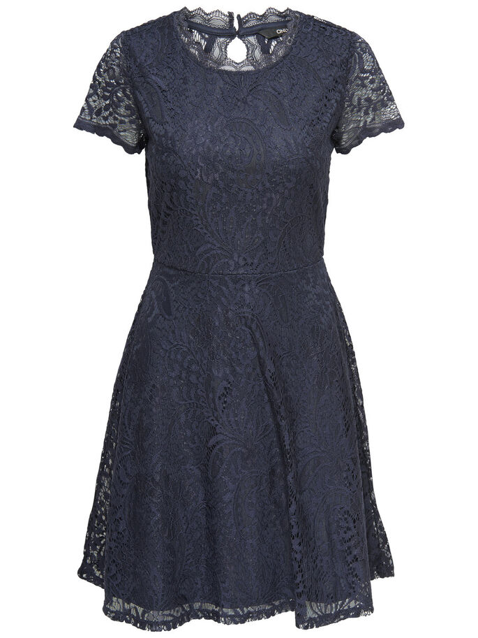 LACE SLEEVELESS DRESS, Night Sky, large