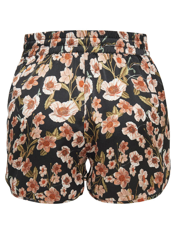 GEBLOEMDE SHORTS, Black, large