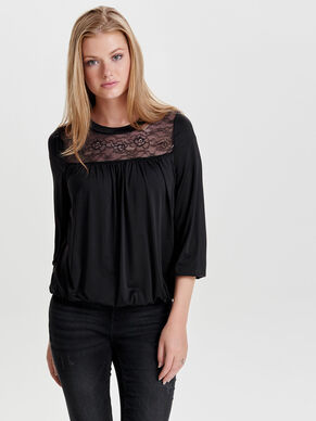LACE 3/4 SLEEVED TOP