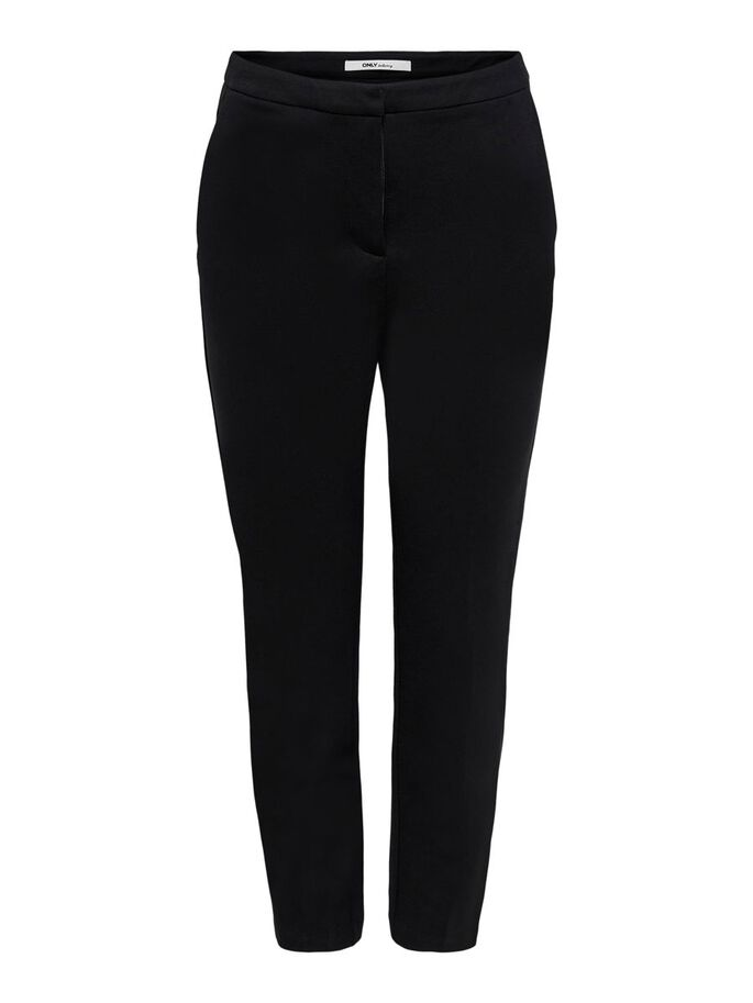 CIGARETTE TROUSERS, Black, large