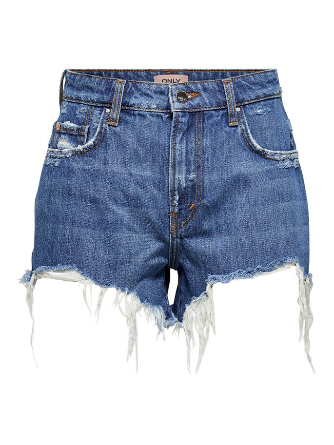 ONLCASSY LIFE MID DENIM SHORTS, Medium Blue Denim, large