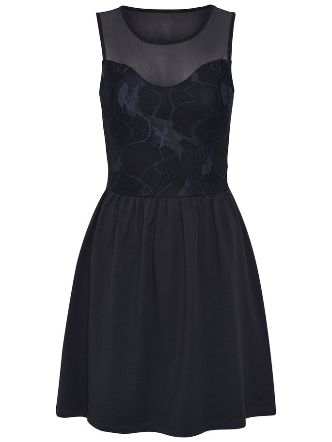 MESH SLEEVELESS DRESS, Night Sky, large