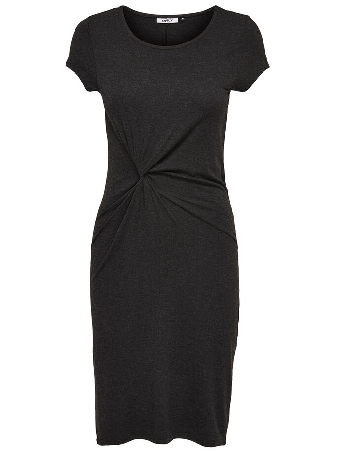 AVEC FINITIONS ROBE COURTE, Black, large