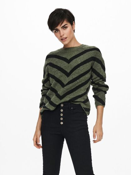 ZIG ZAG KNITTED PULLOVER