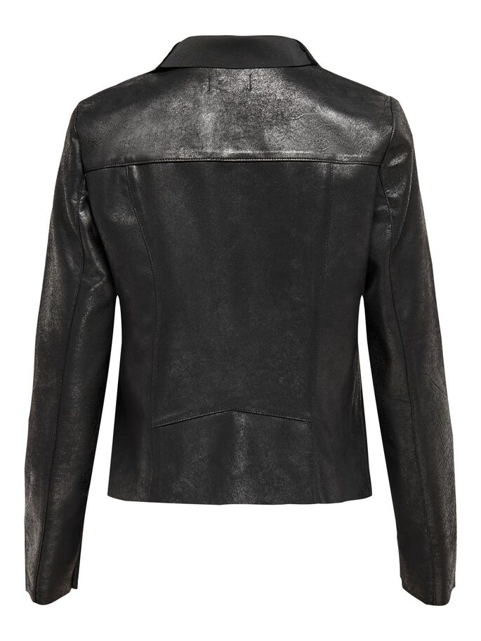 DAIM SYNTHÉTIQUE VESTE, Black, large