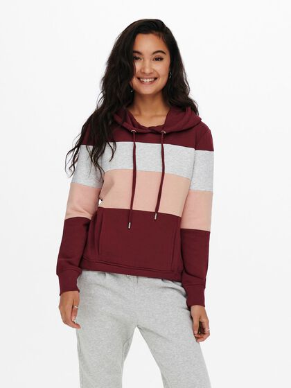 CONTRAST COLORED HOODIE