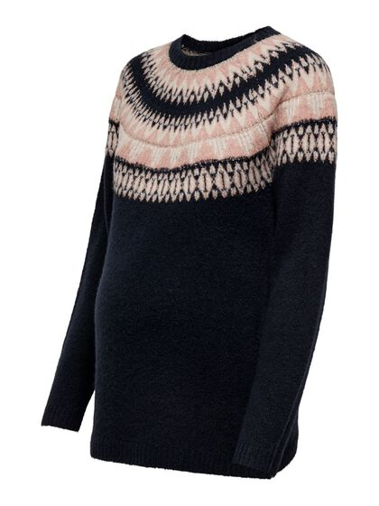 MAMA PATTERNED KNITTED PULLOVER