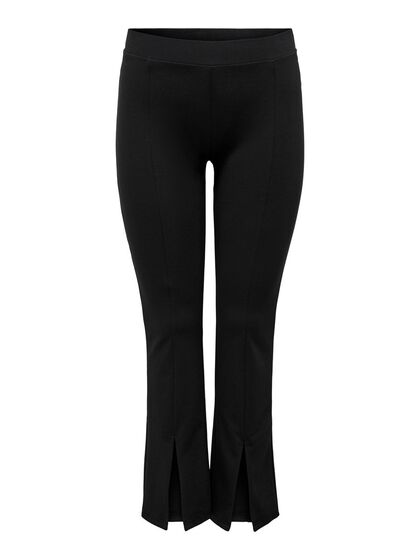 CURVY FLARED SLIT TROUSERS