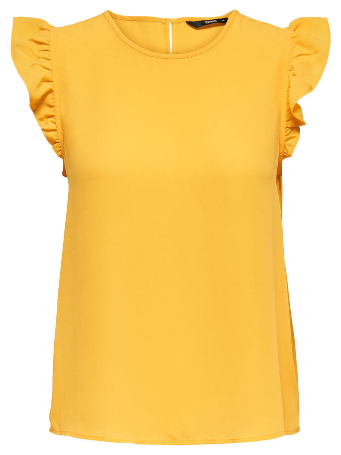 SLEVELESS T-SHIRT, Yolk Yellow, large