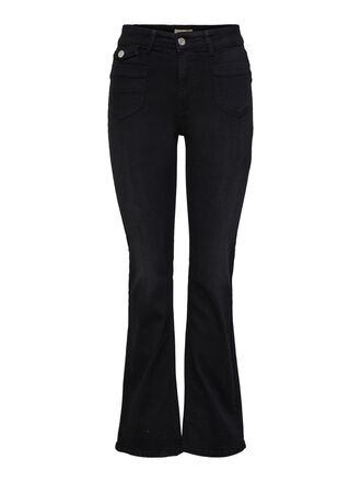 ONLEBBA HIGH WAISTED BUTTON FLARED JEANS