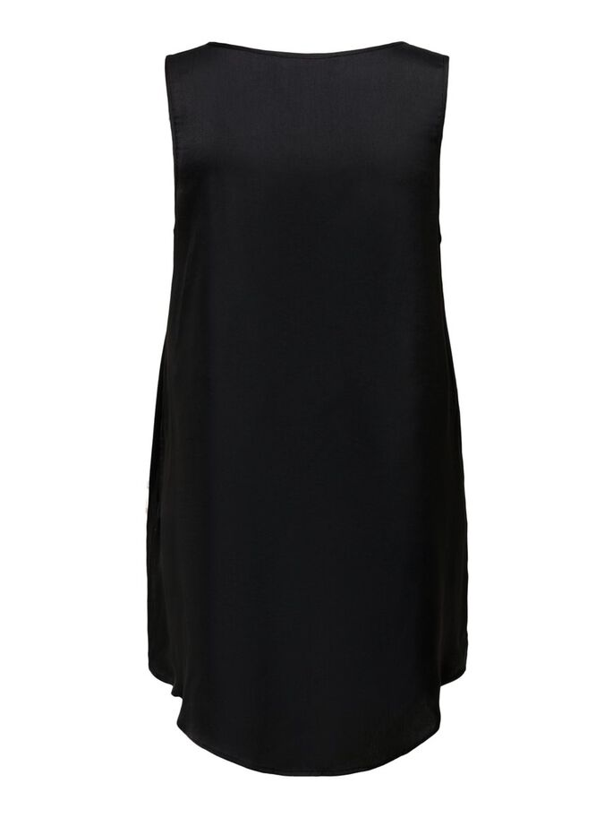 LARGO TOP SIN MANGAS, Black, large