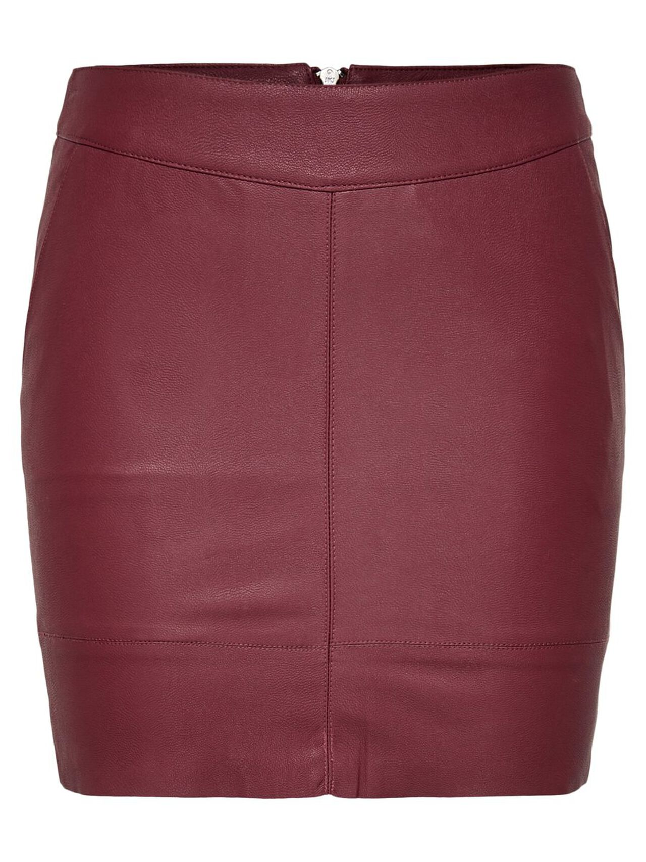 ONLY Leather Look Skirt Women Brown