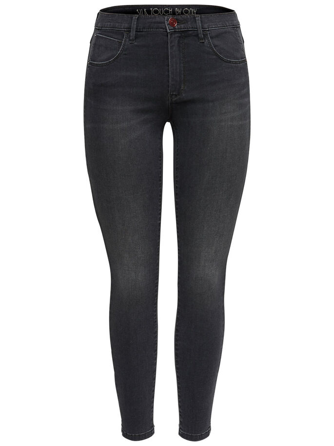 SILK TOUCH REG ANKLE SKINNY FIT JEANS, Dark Grey Denim, large