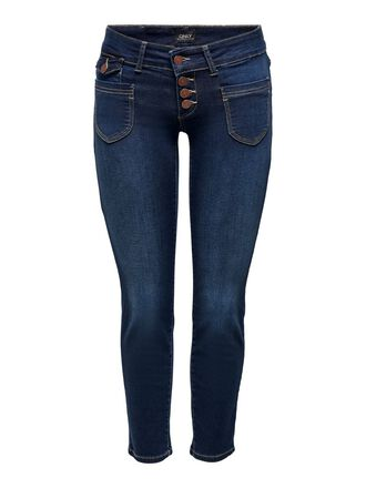 ONLEBBA ANKLE BUTTON STRAIGHT FIT JEANS