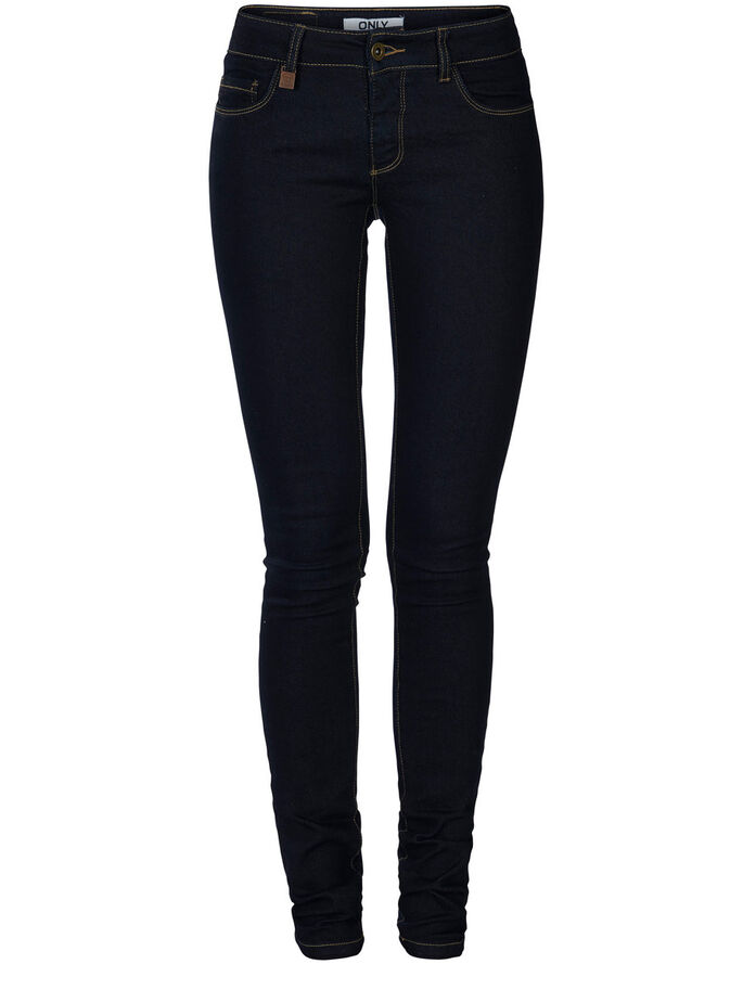 CARRIE LOW SKINNY JEANS, Dark Blue Denim, large