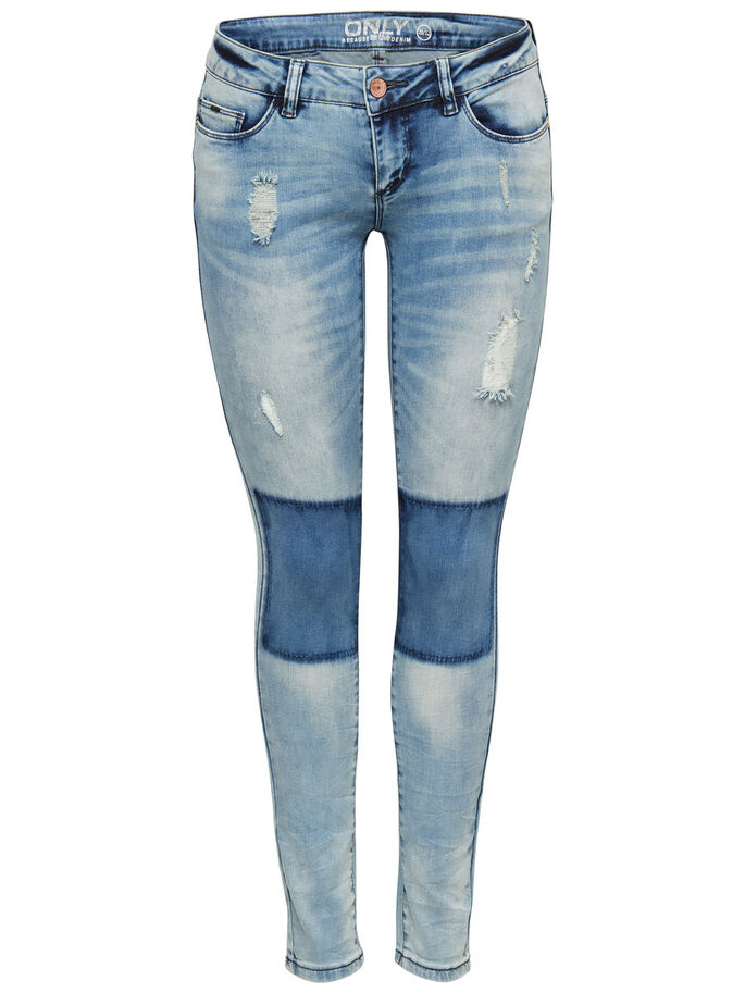 CORAL SUPERLOW SKINNY FIT-JEANS, Light Blue Denim, large