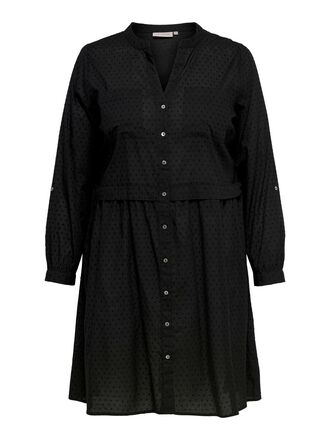 CURVY KNEE LENGTH SHIRT DRESS