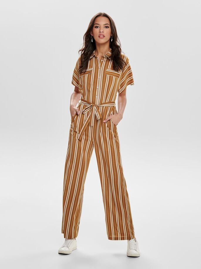 9211b3ac9f46 Striped jumpsuit
