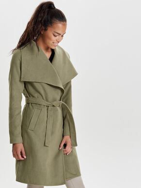 LONG DRAPY TRENCHCOAT