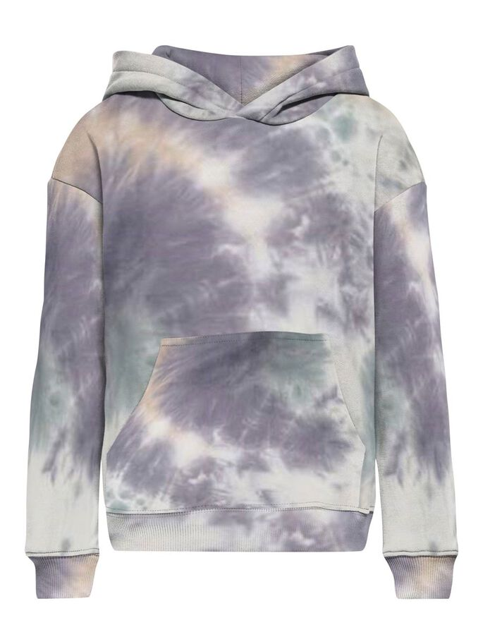 TIE AND DYE SWEAT À CAPUCHE, White, large