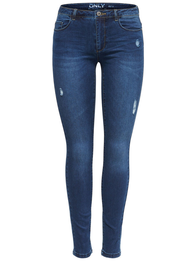 CARMEN REG SKINNY FIT JEANS, Dark Blue Denim, large