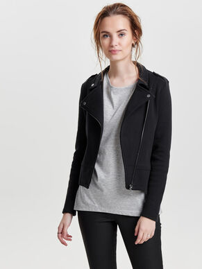 SWEAT BIKER JACKET