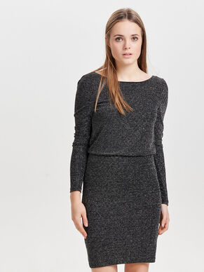 GLITTER LONG SLEEVED DRESS