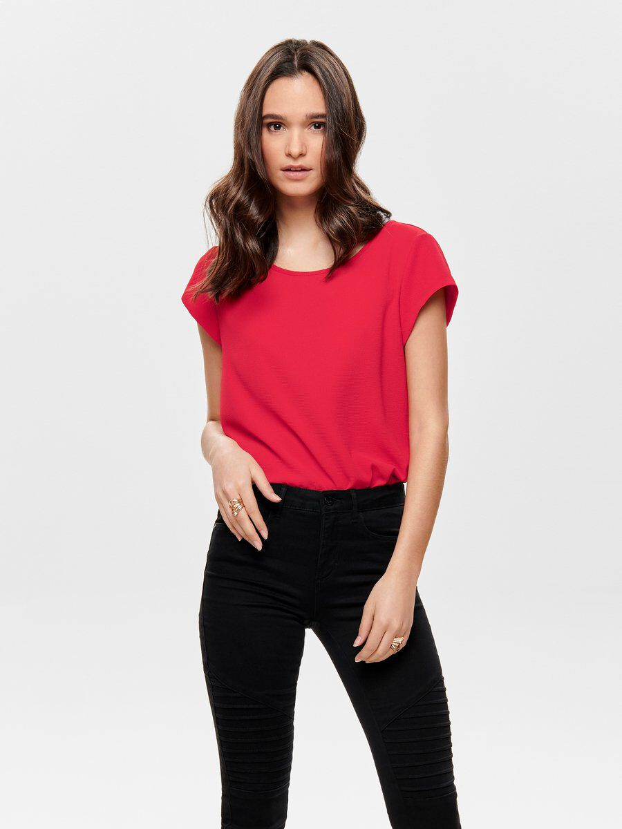 Only Curvy Loose Short Sleeved Top Women Sale Cheap Buy Cheap Collections Comfortable For Sale Outlet Clearance sjfqWRpKFS