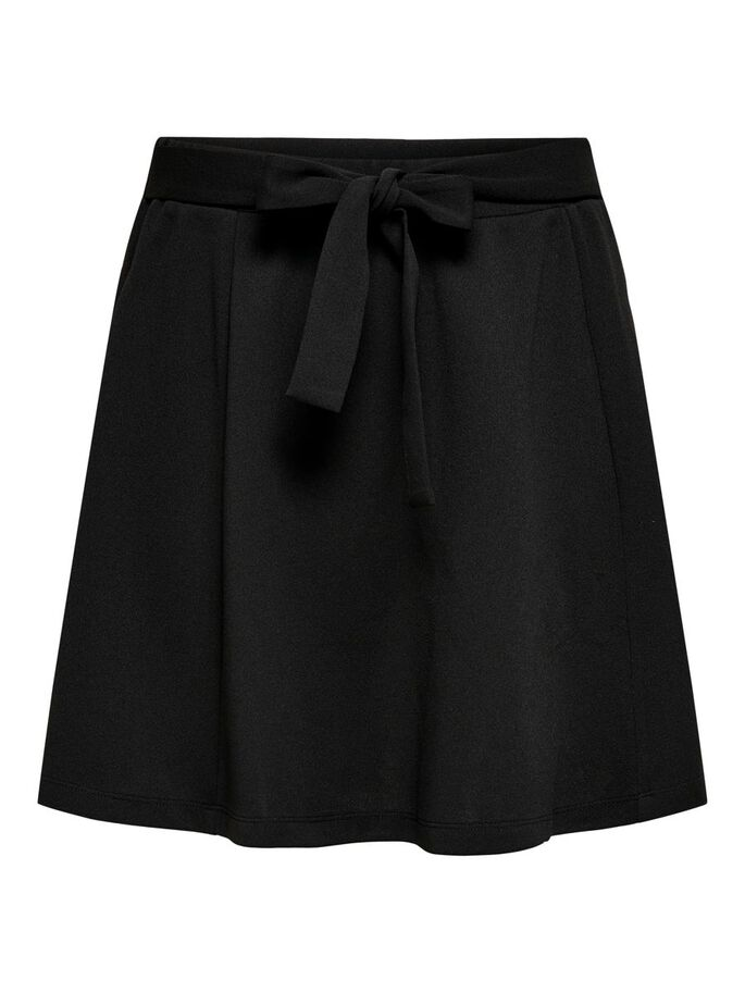 SOLID COLORED SKIRT, Black, large