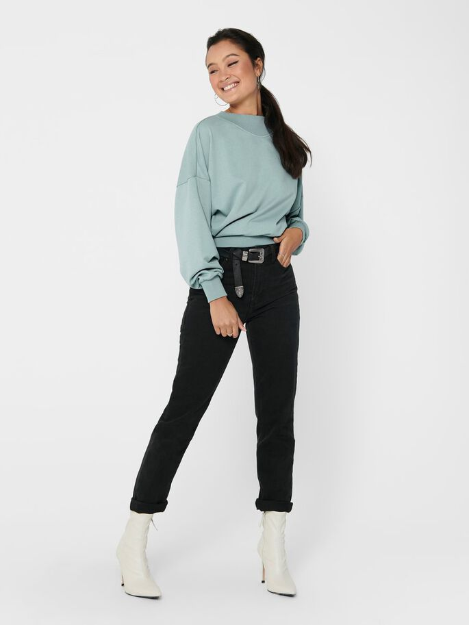 SOLID COLORED SWEATSHIRT, Abyss, large
