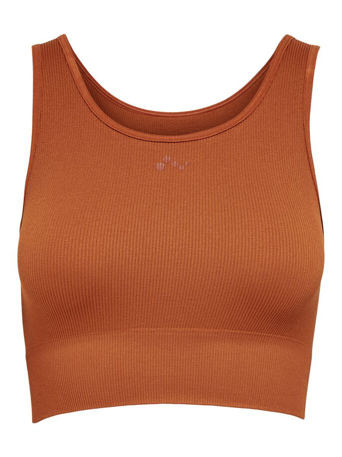 SEAMLESS TANK TOP, Ginger Bread, large