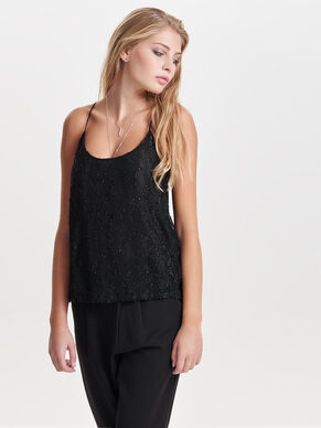 SEQUINS SLEEVELESS TOP