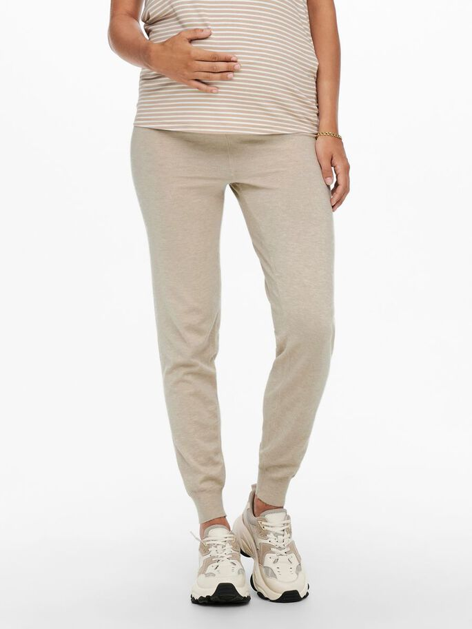 MAMA KNIT SET MED PULLOVER TROUSERS, Pumice Stone, large