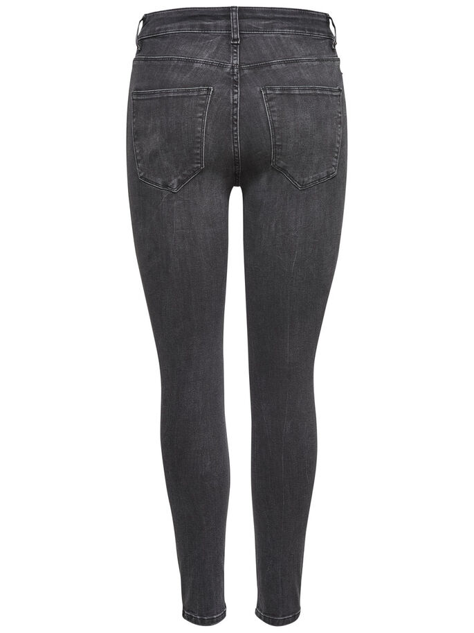 STUDIO1 HIGH WAISTET ANKLE SKINNY FIT JEANS, Black Denim, large