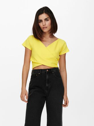 CROPPED WRAP TOP