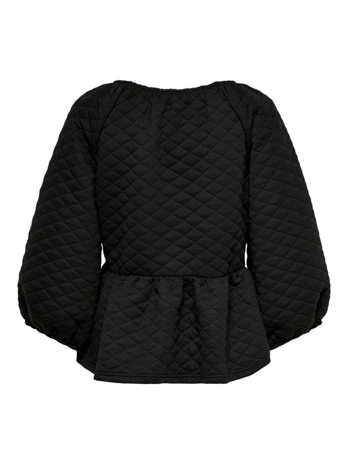 QUILTED TOP, Black, large