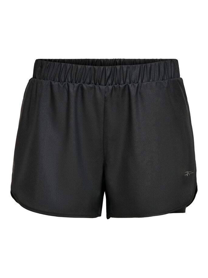 LOOSE FITTED SHORTS, Black, large