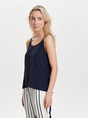 SHORT SLEEVELESS TOP