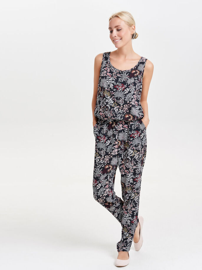 PRINTET JUMPSUIT, Black, large