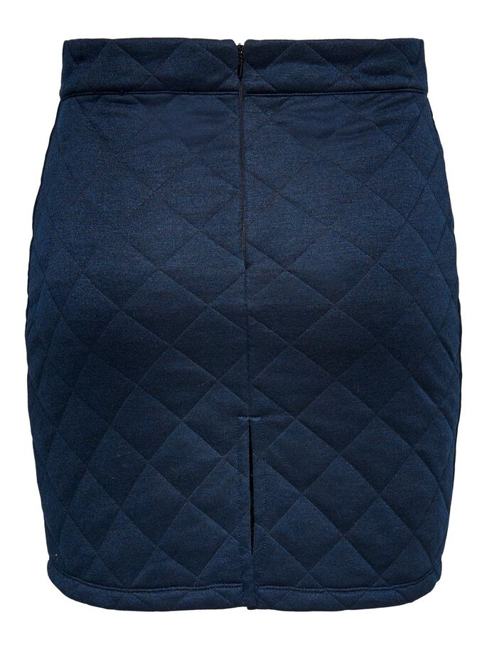 QUILTED SKIRT, Black, large
