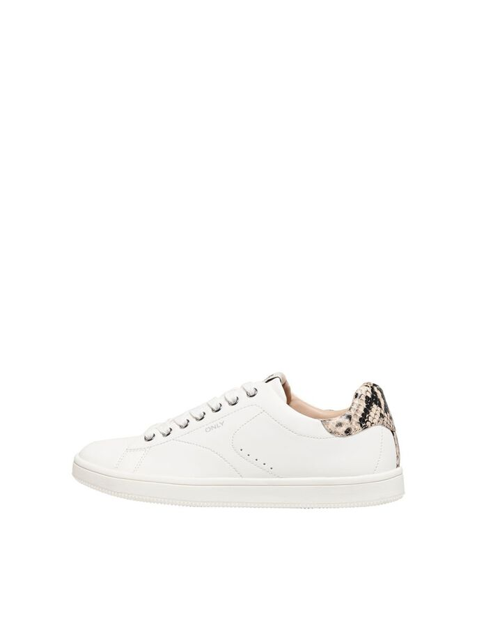 CONTRAST DETAIL SNEAKERS, White, large
