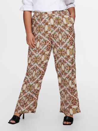 CURVY WIDE PRINTED TROUSERS