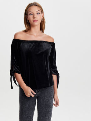 VELVET SHORT SLEEVED TOP