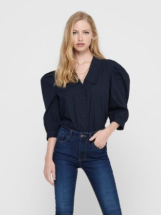 PUFF SLEEVED 3/4 SLEEVED SHIRT