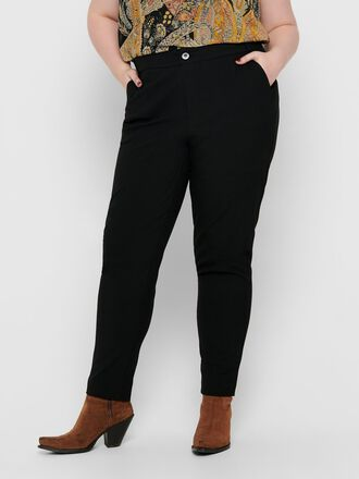 CURVY SOLID COLORED TROUSERS