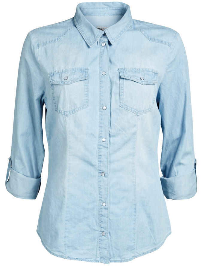 FITTED SHIRT, DENIM, large