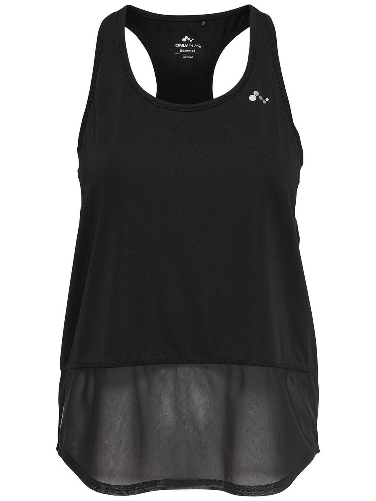 ONLY Mesh Training Top Women Black