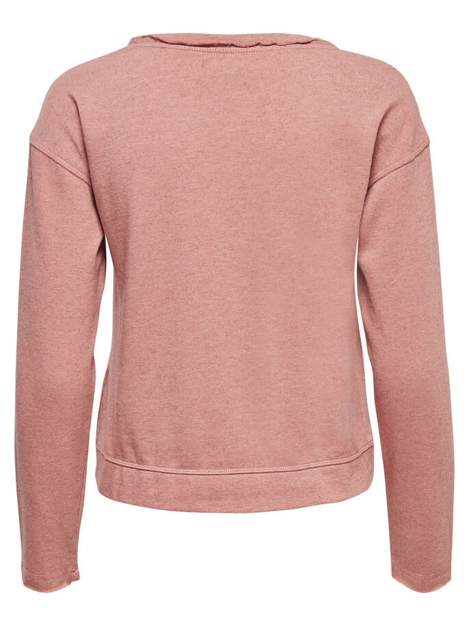 DETAILED SWEATSHIRT, Ash Rose, large