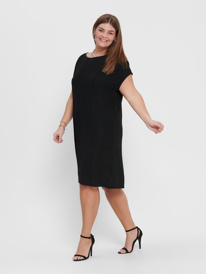 CURVY LOOSE DRESS, Black, large